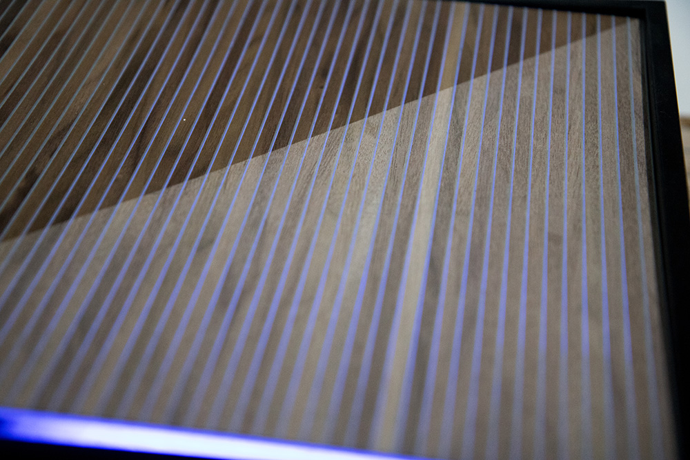 Ansicht Musterbox 17, Materialkombination von Holz, Metall und mehr